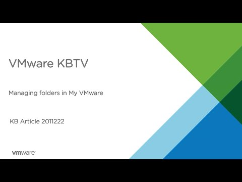 How to manage folders in My VMware