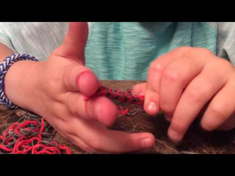 How to make a  easy cool rubber band fishtail bracelet with no loom