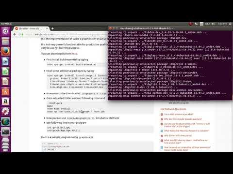 How to install graphics.h on ubuntu 16.04 LTS || use graphics,h on ubuntu