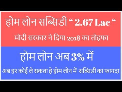Subsidy on Home Loan 2018, Subsidy on Pradhan Mantri Awas Yojana.