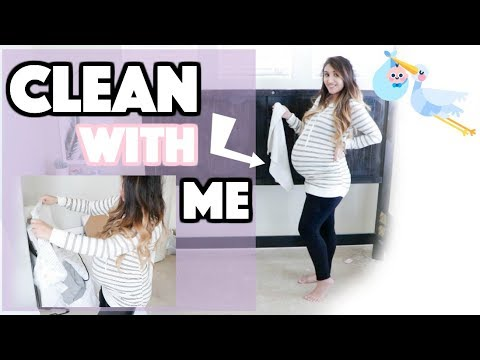 CLEAN WITH ME! 9 Months Pregnant Nesting Edition