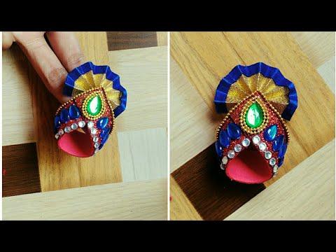 Mukut For Ganeshji | Paper Craft | Mukut Making Ideas | Mukut For God | By Punekar Sneha.