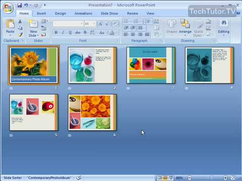 Use Slide Sorter View in PowerPoint 2007