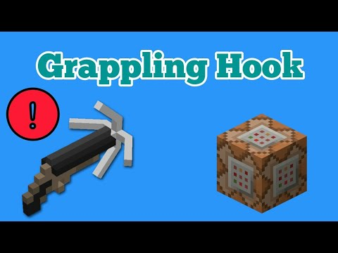 How to make a Grappling Hook with Commands | Minecraft PE/Xbox One