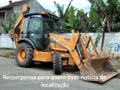 Retro-escavadeira CASE 580M 4x4 cabinada - Roubada na cidade de Arujá/SP