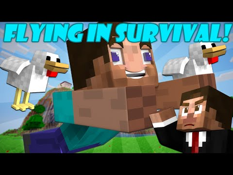 If You Could Fly in Survival Mode - Minecraft
