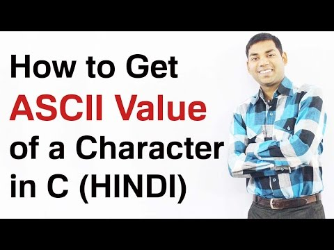Program to Find ASCII Value of a Character in C (HINDI)
