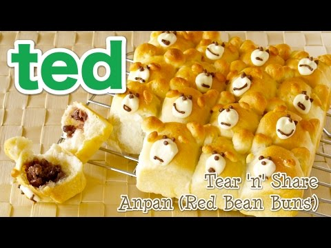 Tear 'n' Share ted Anpan (Kawaii Azuki Red Bean Buns) テッドちぎりあんぱんの作り方 - OCHIKERON - CREATE EAT HAPPY
