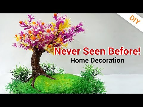 WOW! What an IDEA of DIY Tree Room Decor From Newspaper | Handmade Art Home Decoration!