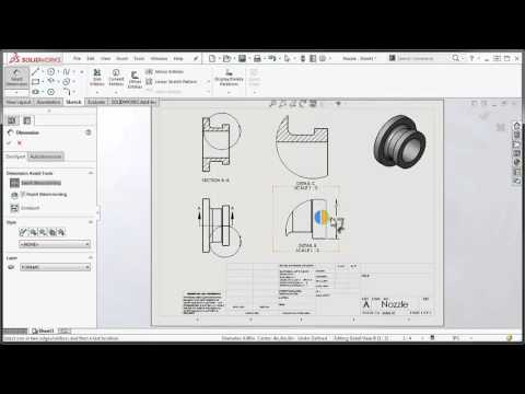 New in SOLIDWORKS 2016 - Foreshortened Dimension Enhancements