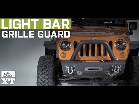 Jeep Wrangler (2007-2017 JK) Off Camber Fabrications by MBRP Light Bar/Grille Guard Review & Install