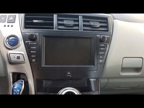 How to Remove Radio / Navigation / Display from Toyota Prius V 2012 for Repair.