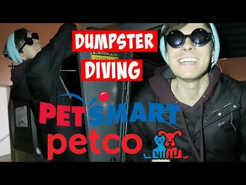 PETSMART & PETCO DUMPSTER DIVING (her dog got herpes)