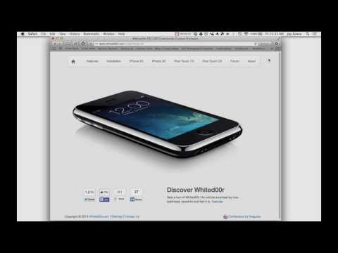 How to Install iOS7 on iPhone 2G, 3G, iPod Touch 1G and 2G w/ Whited00r