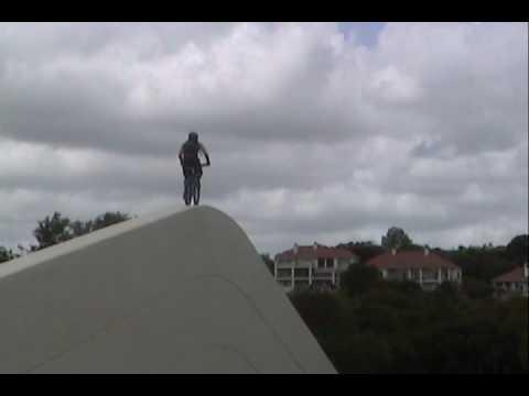 insane wall stunt
