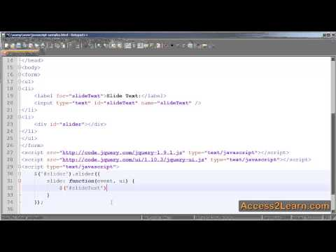 Creating an HTML Slider with jQueryUI - Tutorial