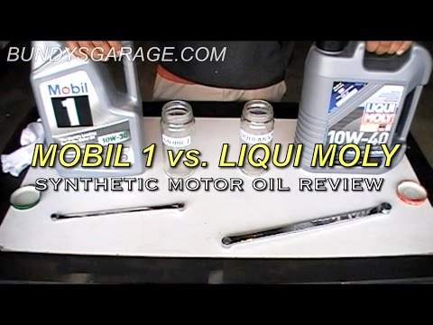 Mobil 1 vs. Liqui Moly | Synthetic Motor Oil Review | Bundys Garage