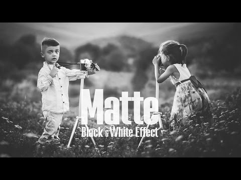 Matte Black & White Effect - Photoshop Tutorial