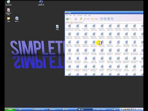 How to add Fonts to a Windows XP [HD]