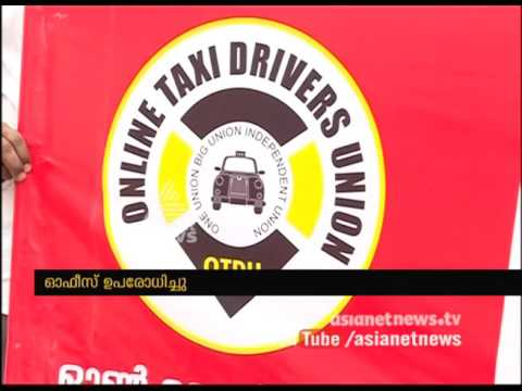Uber, Online Taxi drivers strikes  in kochi , demands on Minimum Wages