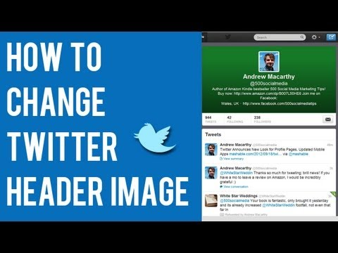 How to Change Twitter Header Image 2012, 2013 | Twitter Cover Profile Photo