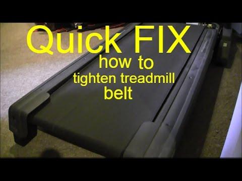 how to tighten treadmill belt