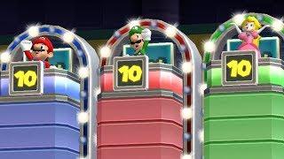 Mario Party 9 Step It Up - Mario vs Luigi vs Peach vs Daisy Master Difficulty Gameplay | GreenSpot