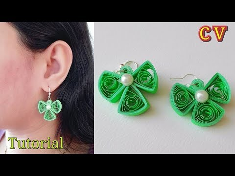 How to Make Quilling Earrings / Paper Quilling Earrings / Tutorial / Design 73