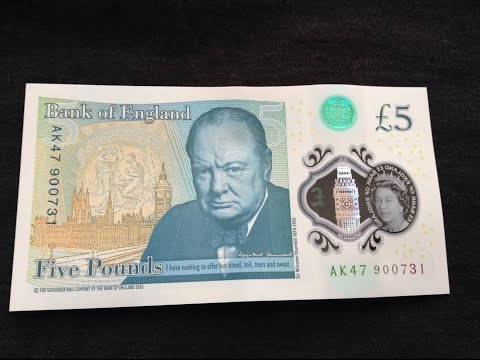 Rare New £5 Note Polymer AK47 Serial Number