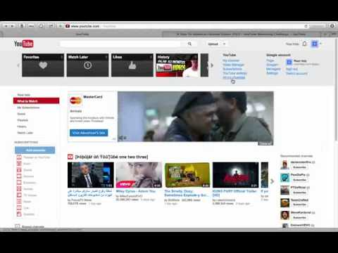 Create Additional Youtube Channel to Existing Account. 2014