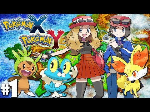 Pokemon X and Y Dual Gameplay Walkthrough: Starter Battles - PART 1 (Nintendo 3DS Episode)