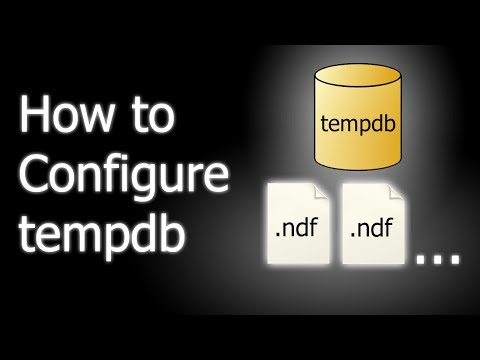 How to configure tempdb in SQL Server