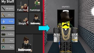 USING THE UNDERCOVER PERK! (Roblox Murder Mystery 2)