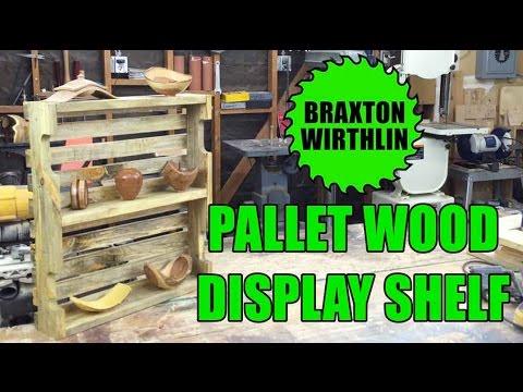 How-to DIY Easy Pallet Wood Display Shelf