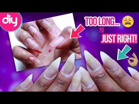 How to Trim Down Pointy Acrylic Nails
