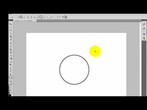 How to draw a circle with no fill in Photoshop