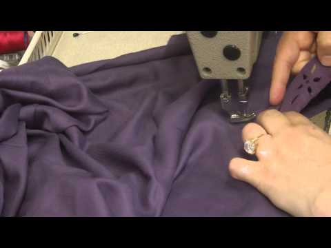 attaching lace to v neckline