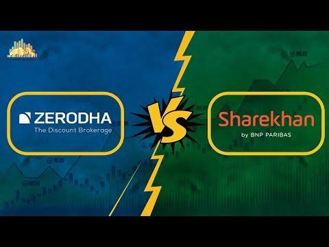 शेरखान तथा ज़ेरोधा की तुलना, Zerodha Vs Sharekhan (in Hindi) - Stock Brokers Comparison
