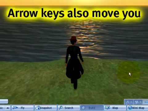 BASICS: Moving & flying - Second Life Video TuTORial