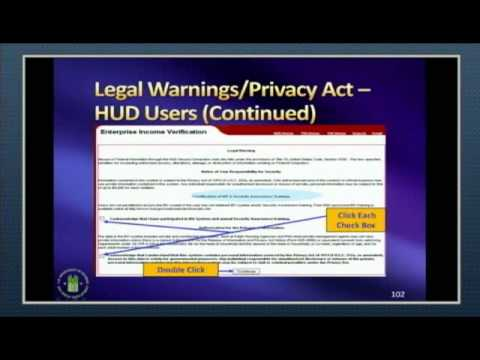 2011 Updated PIH-EIV System 9.2.1 Training: Day 1, Part 2 - HUD - 10/27/11