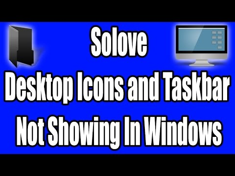 How to Solve Desktop Icons and Taskbar Not Showing in Windows in Urdu/Hindi Tutorial