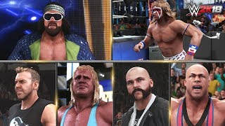 WWE 2K18 All Entrances 4 | Ultimate Warrior, Macho Man, Mr Perfect, RVD, Batista, Kurt Angle & More