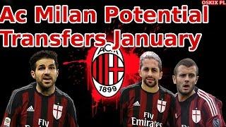 Ac Milan January 2017 Potential Transfers #3