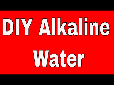 How to Make Alkaline Water without Salt or Baking Soda