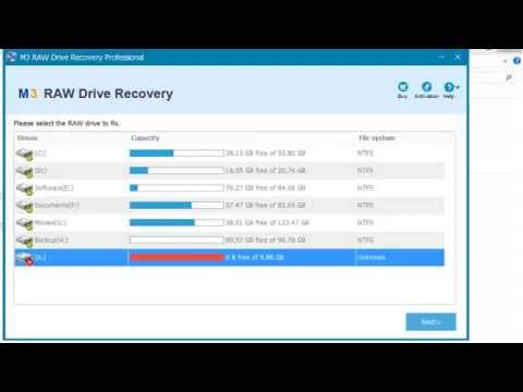 How to convert/change RAW to NTFS without data loss?
