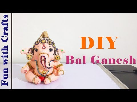 How to make Ganesha idol at home
