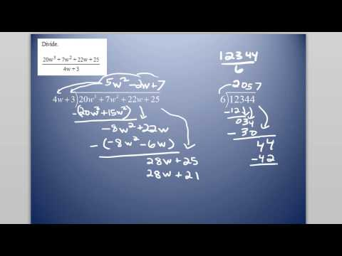 Long Division Example