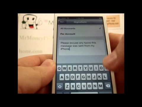 iPhone 5 - How to Change Email Signature - Apple iPhone 5 - Tutorial #12