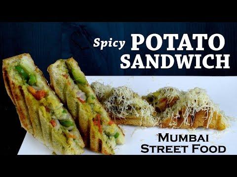 Spicy Potato Sandwich| Indian Sandwich Recipe|Mumbai masala sandwich(mumbai street food)yummylicious