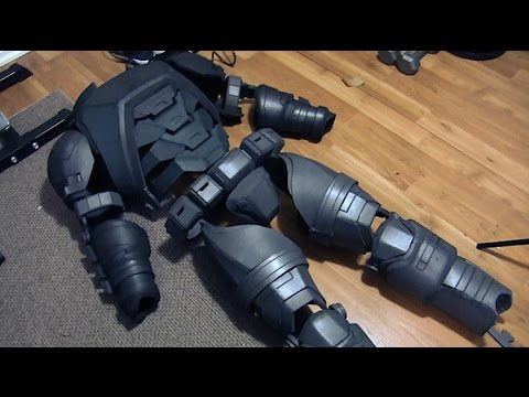 Batman V Superman Dawn of Justice Movie Foam Armor Costume Build- Part 4